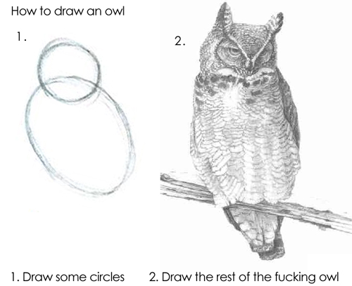 drawing owl image