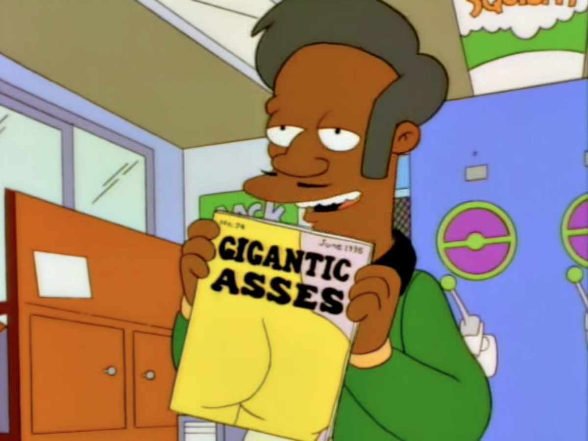 gigantic asses magazine | the simpsons | know your meme