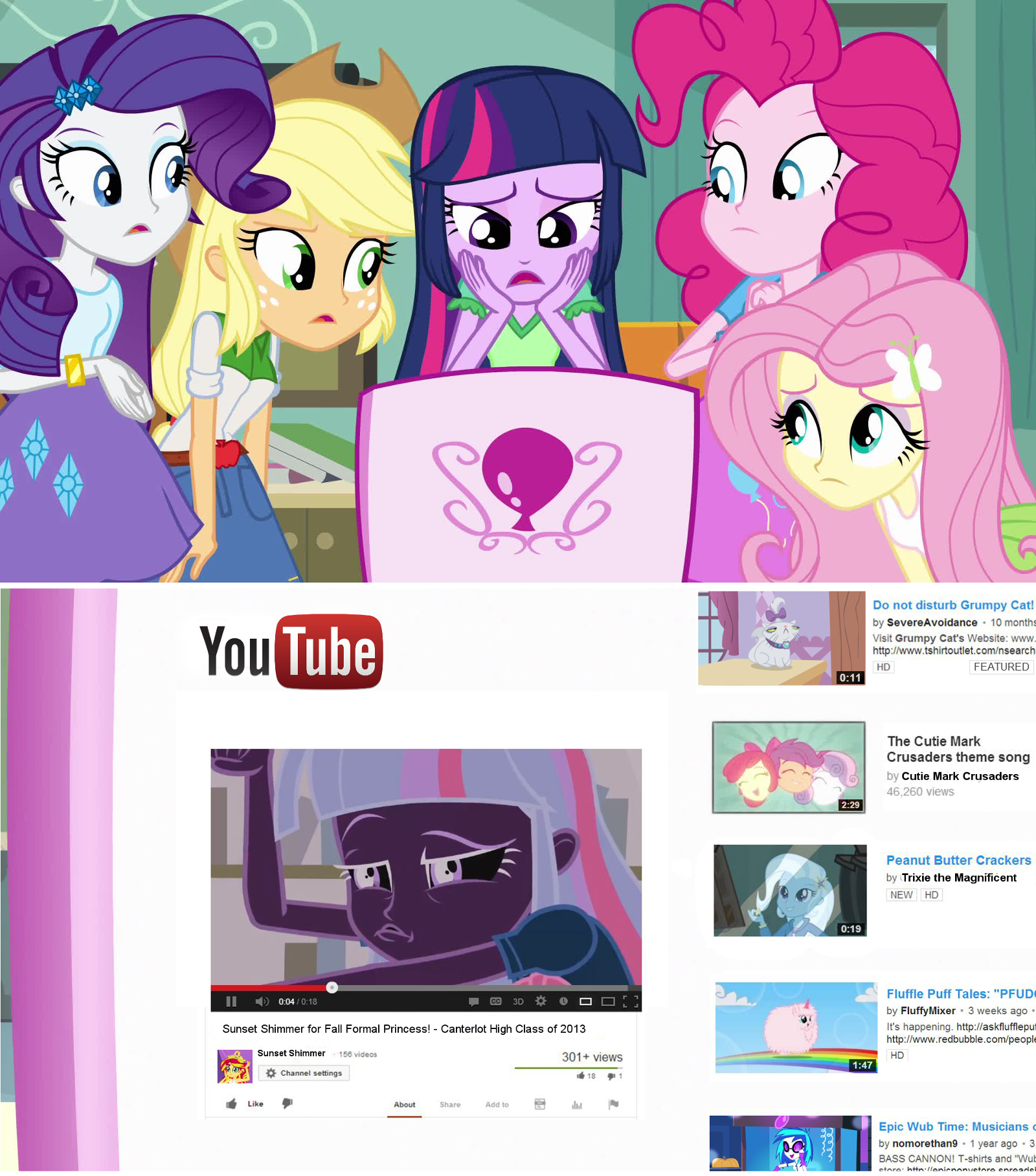 Twilight watches sunset shimmer 39 s youtube video my little pony friendship is magic know for Little pony watches