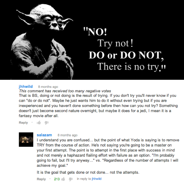 dfe do, or do not, there is no try yoda yodaspeak know your meme