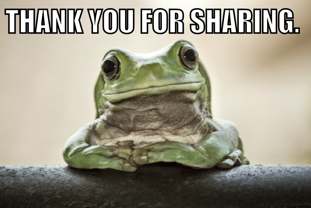 885 thank you for sharing know your meme