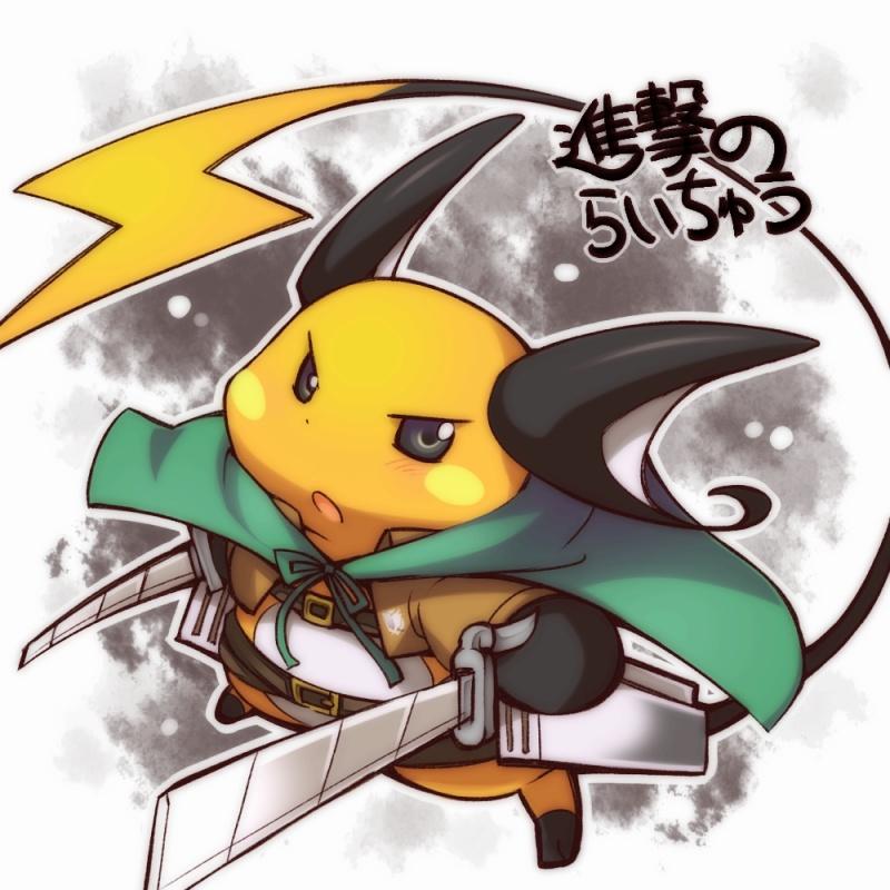 483 raichu in attack on titan pok�mon know your meme,Pokemon Know Your Meme