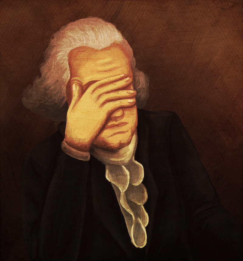 Image result for george washington facepalm