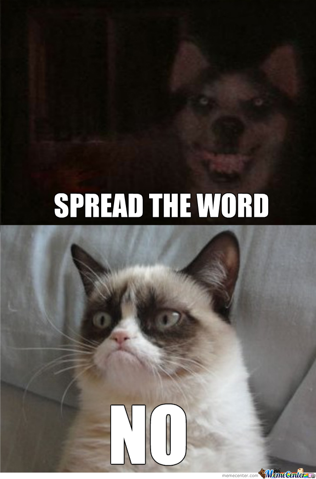 a3e smile dog vs grumpy cat grumpy cat know your meme,Smiling Dog Meme