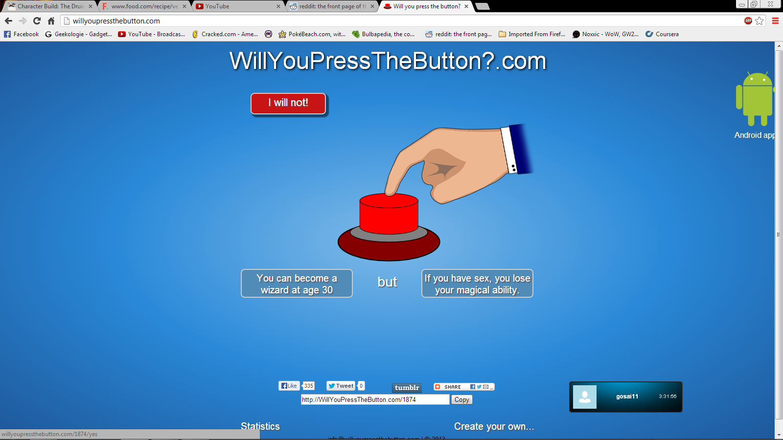 [Image - 622015] | Will You Press The Button? | Know Your Meme