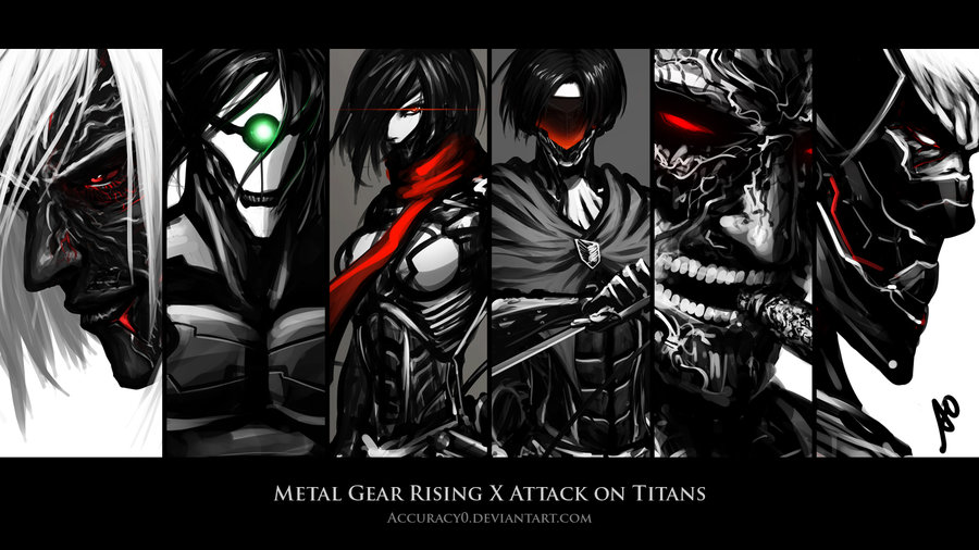 Metal gear rising x attack on titans wallpaper attack on titan 2 metal gear rising x attack on titans accuracyoiantart voltagebd Image collections