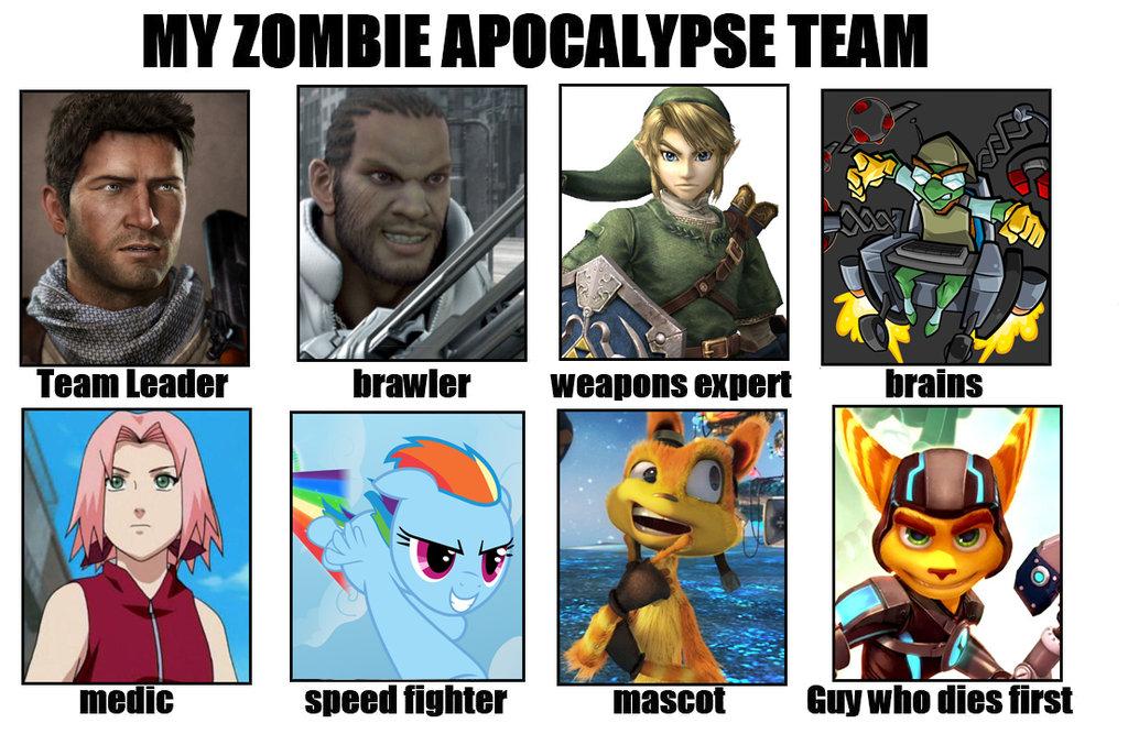 Image 630822 My Zombie Apocalypse Team Know Your Meme