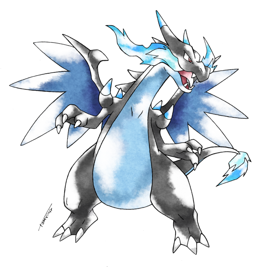 Mega charizard x old s style pokemon know your meme - Mega evolution dracaufeu x ...