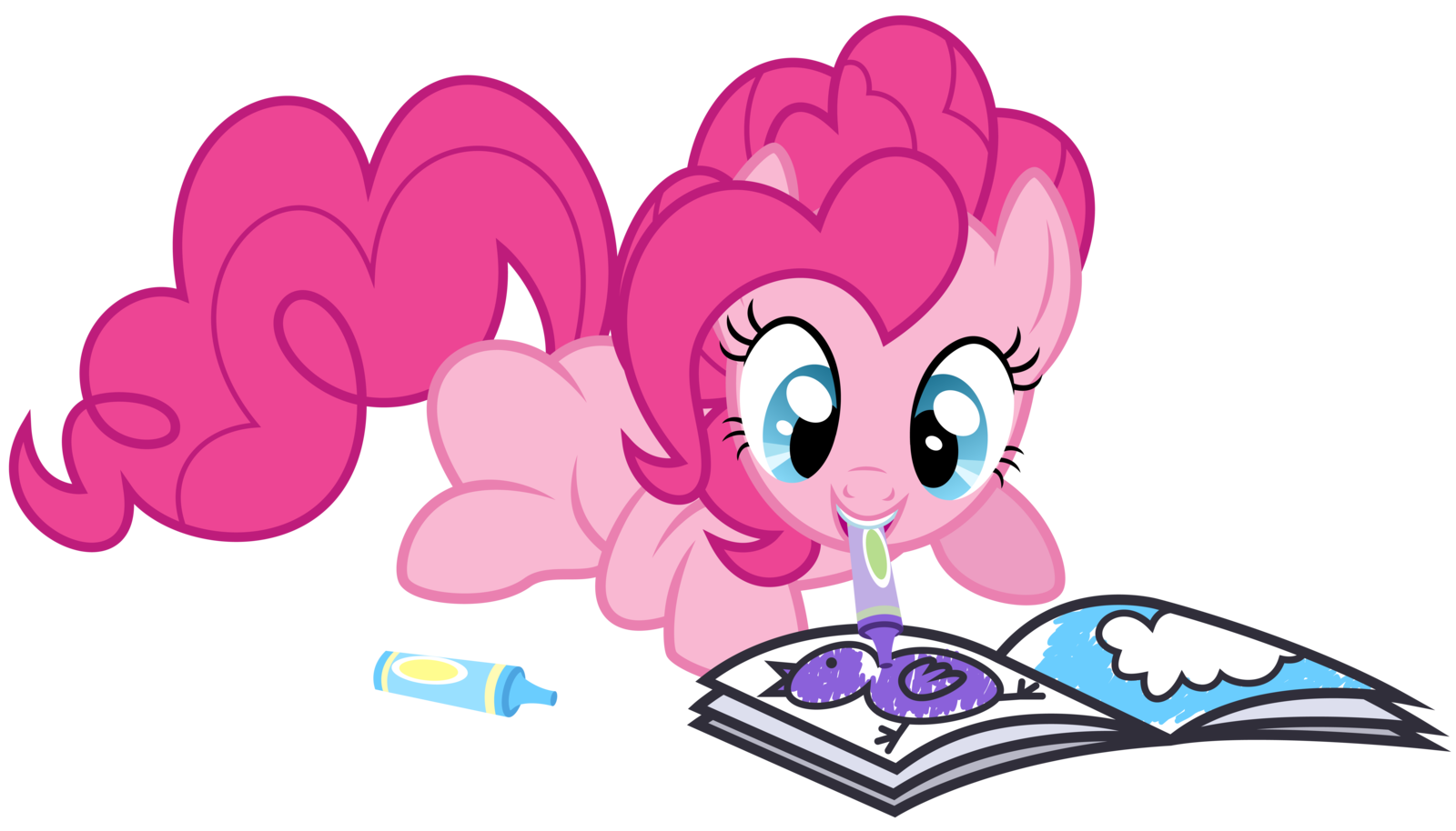 pinkie pie coloring vector my little pony friendship is magic