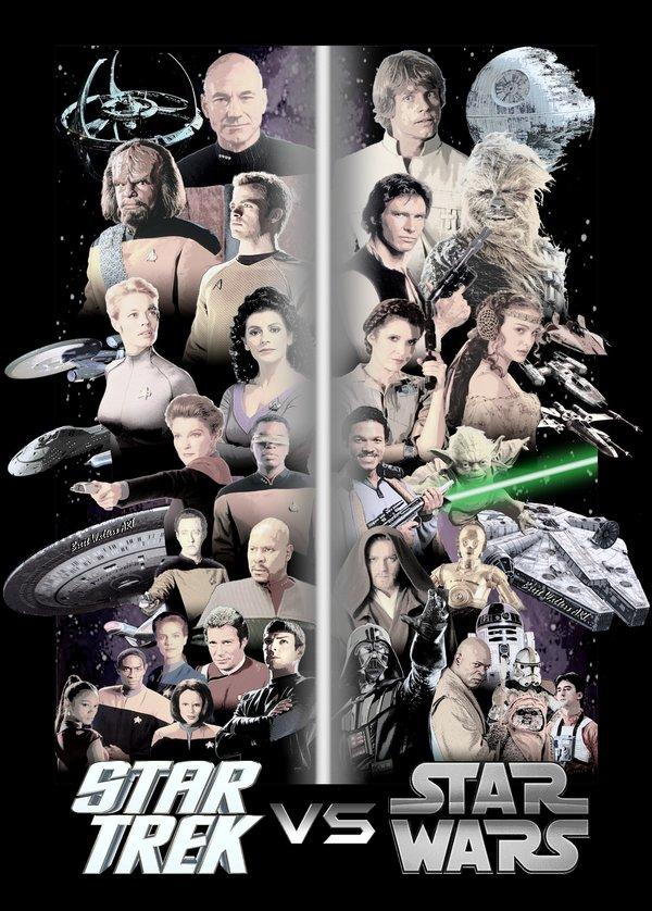 82c star trek vs star wars crossover know your meme,Star Wars Star Trek Meme