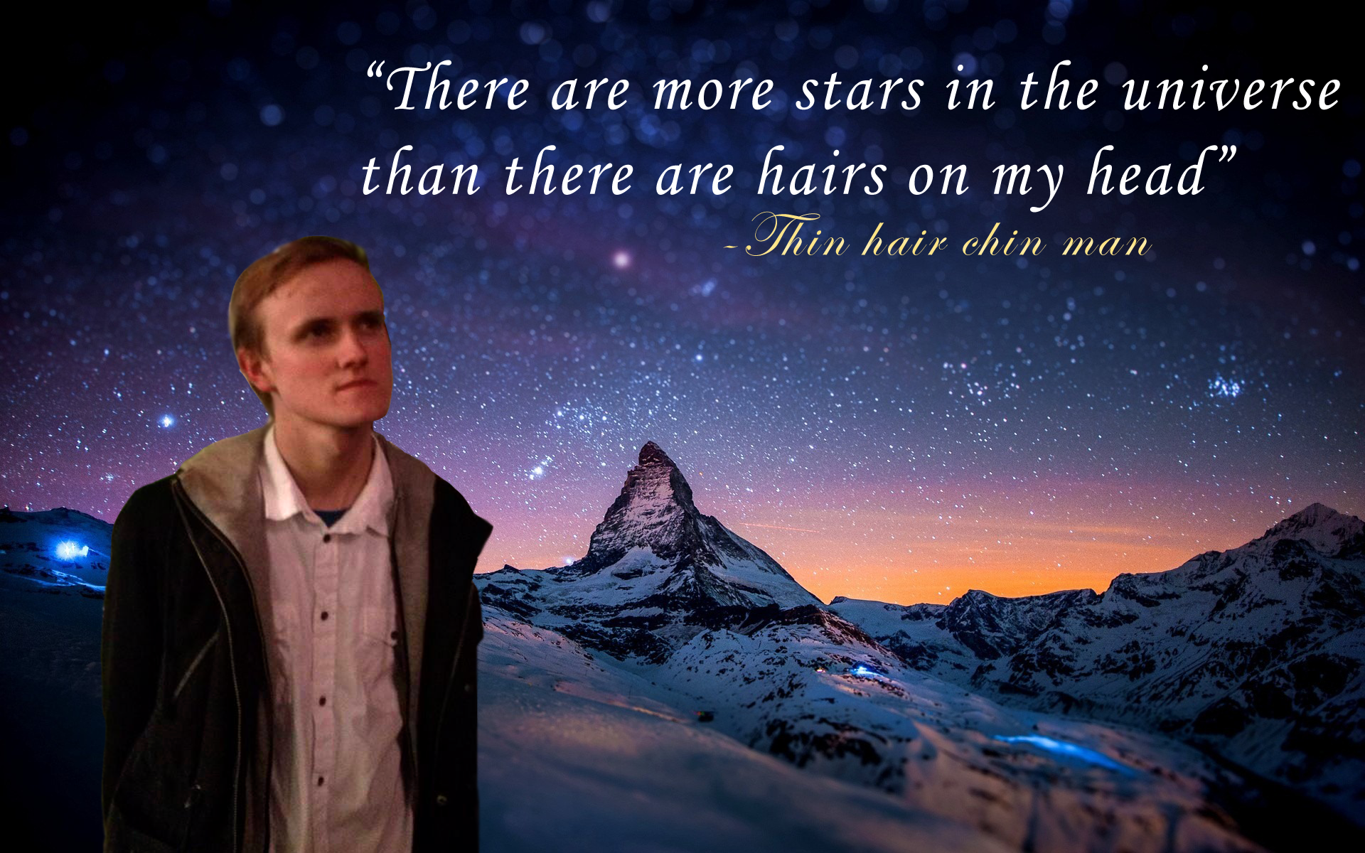 thin chin moment | thin hair chin man | know your meme