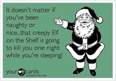 Image result for creepy elf on the shelf meme