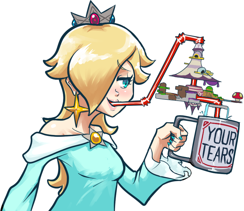 e8a rosalina drinking your tears super smash brothers know your meme