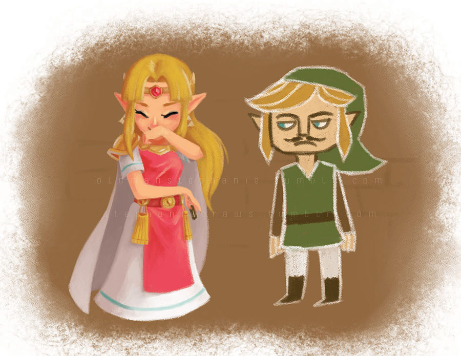Funny Link Zelda Memes : If zelda draws a funny moustache on link while he s a painting