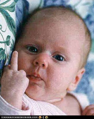 44a flip off baby know your meme