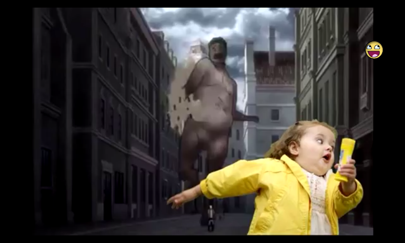 Kid Running Funny Meme : Attack on memes chubby bubbles girl know your meme