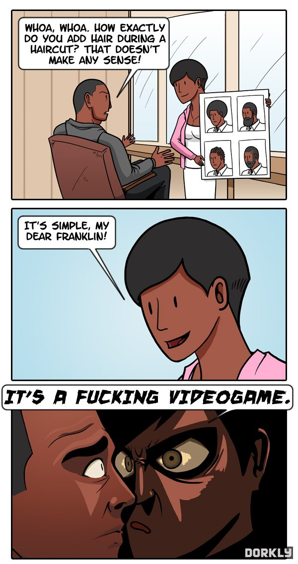 Image 687656 grand theft auto logic know your meme how exactly do you add hair during a haircut that doesn voltagebd Choice Image