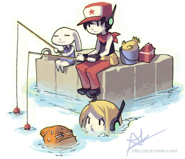 Chin fishing cave story know your meme httppubfenkuuf cave story 3d 1001 spikes mammal cartoon voltagebd Gallery