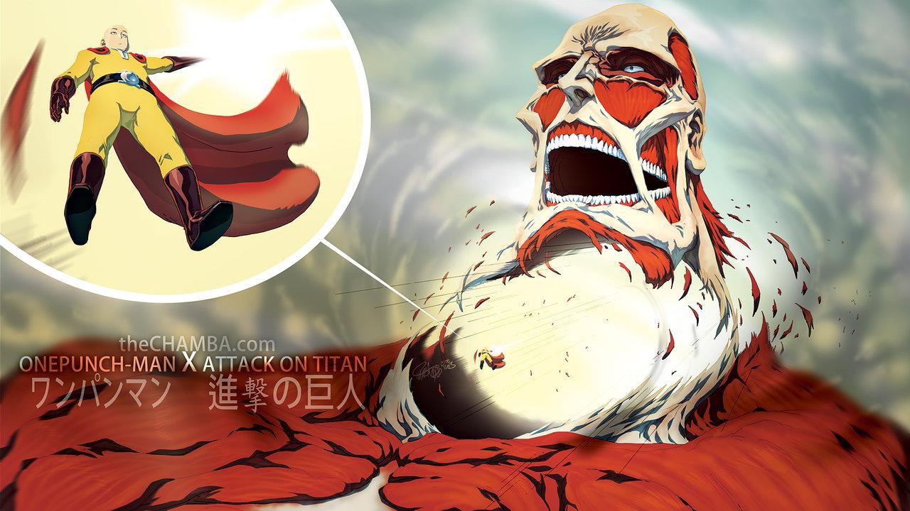 Saitama vs Colossal Titan | Alternate Universe | Know Your Meme