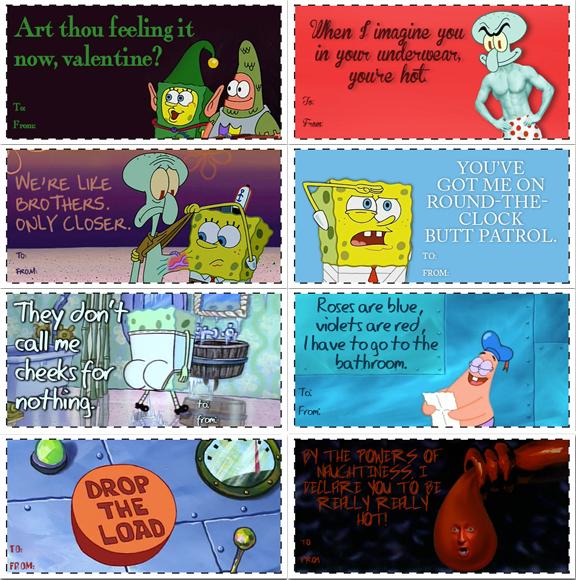 art th now valentine uh ou feeling i t en imagine you in yourt - Spongebob Valentine Cards