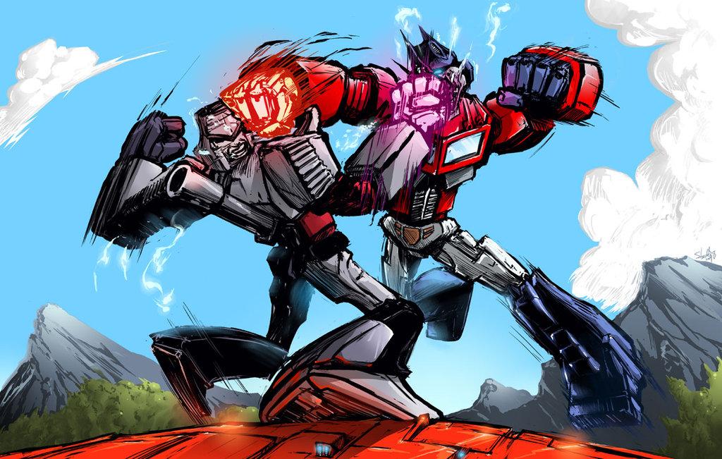Optimus prime vs megatron transformers know your meme - Transformers cartoon optimus prime vs megatron ...