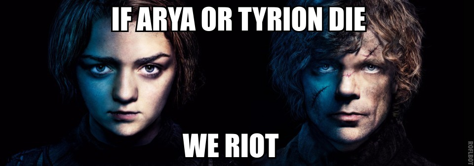 662 arya and tyrion game of thrones know your meme