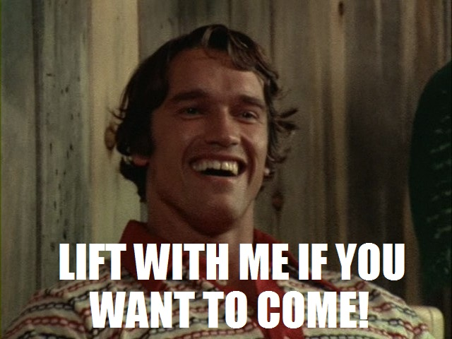Sahar Tabar Photos >> Pumping Iron | Arnold Schwarzenegger | Know Your Meme