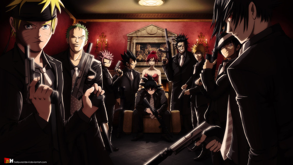 Anime mafia alternate universe know your meme goku integra hellsing darkness voltagebd Gallery