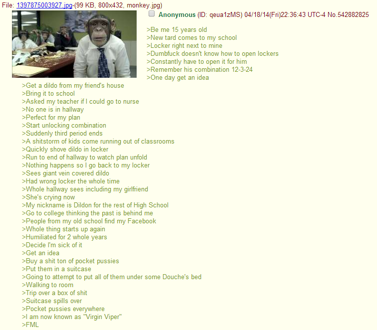 4chan  Green Text Stories  Know Your Meme