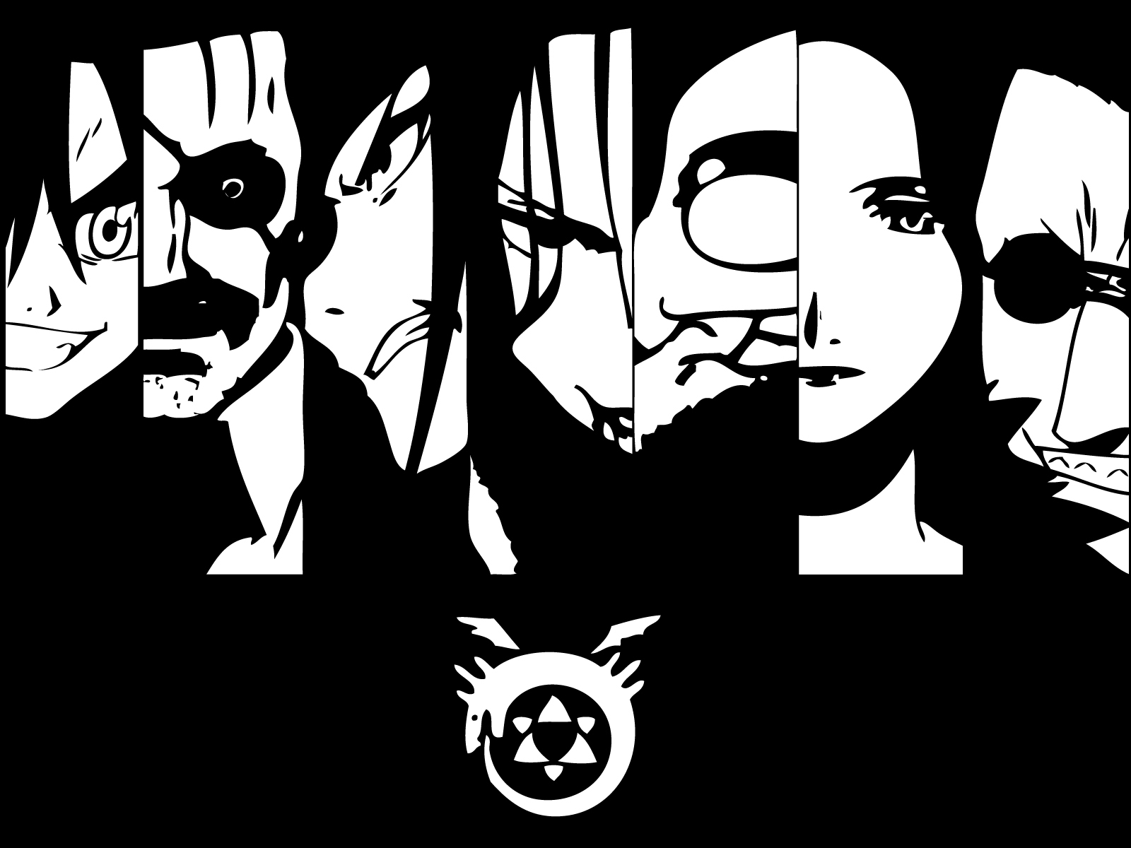 2003 anime homunculi fullmetal alchemist know your meme edward elric alphonse elric roy mustang wrath black black and white cartoon fictional character art monochrome buycottarizona Choice Image