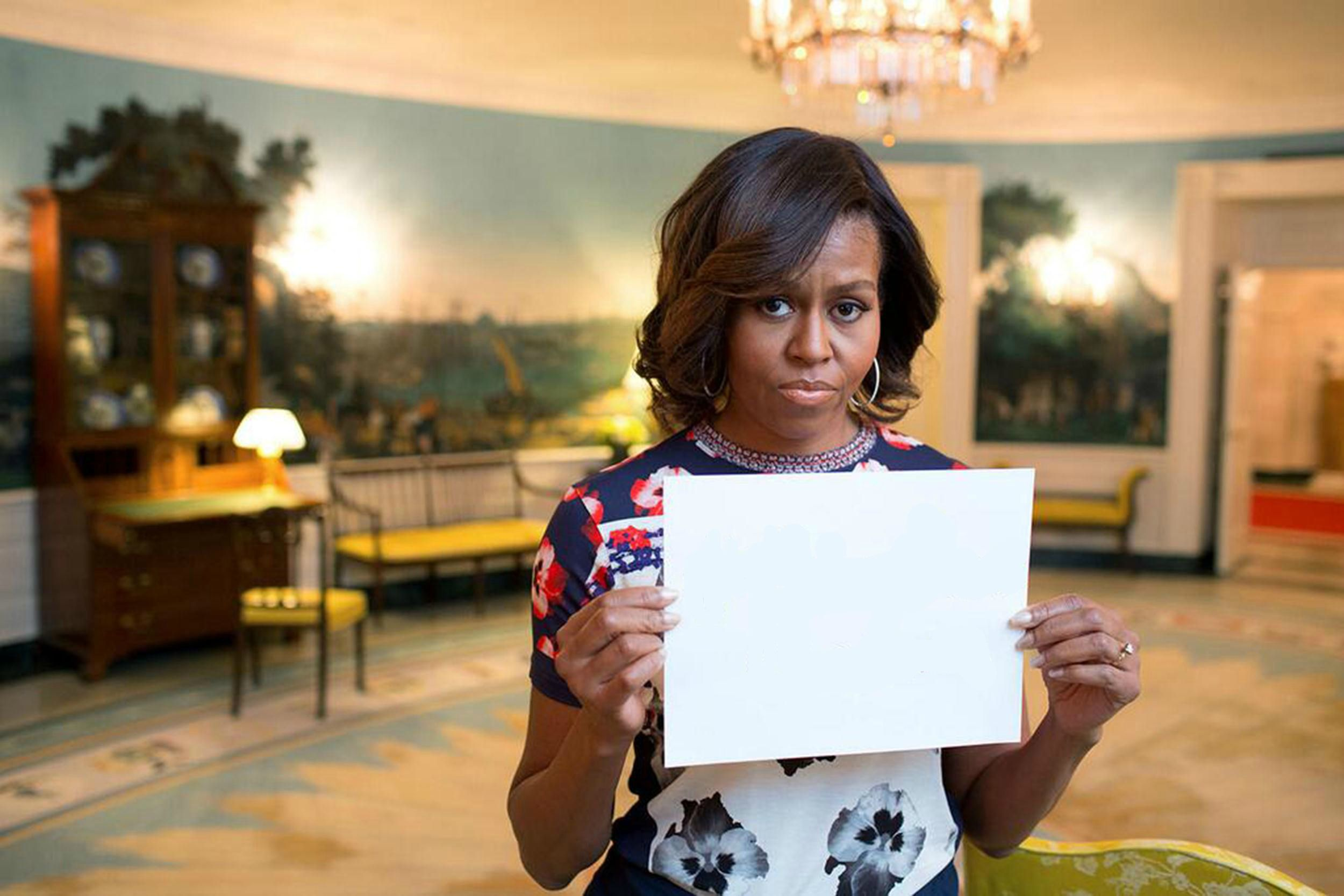 Funny First Lady Meme : Michelle obama s bringbackourgirls sign know your meme