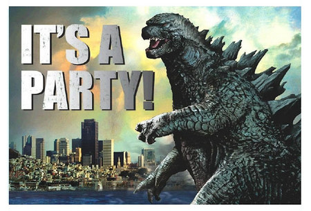 Godzilla Birthday Party Invitation Godzilla Know Your Meme