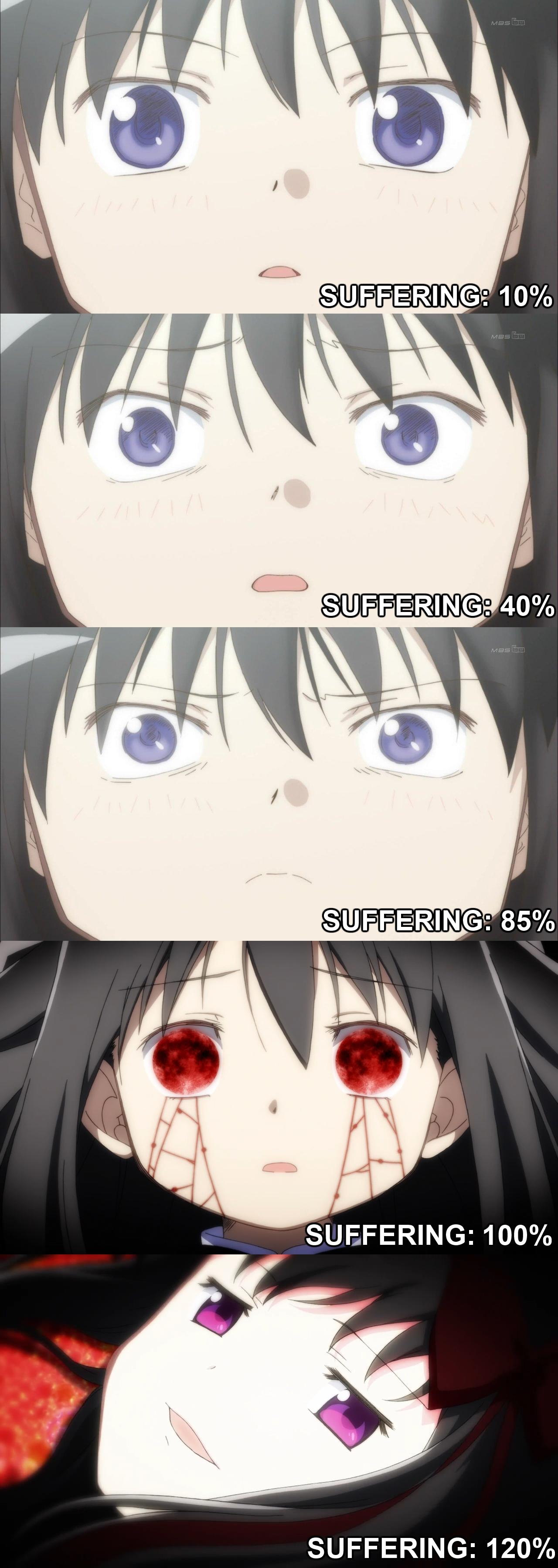 72f homura's levels of suffering puella magi madoka magica know,Puella Magi Madoka Magica Meme
