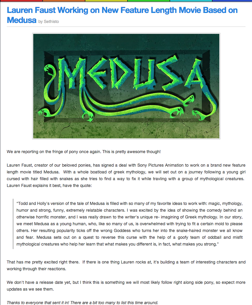 f4b faust working on a new movie based on medusa for sony animation