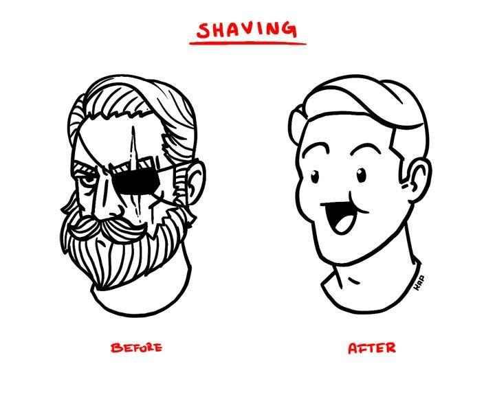 Astounding Beard Shaving Comic Parodies Know Your Meme Hairstyle Inspiration Daily Dogsangcom