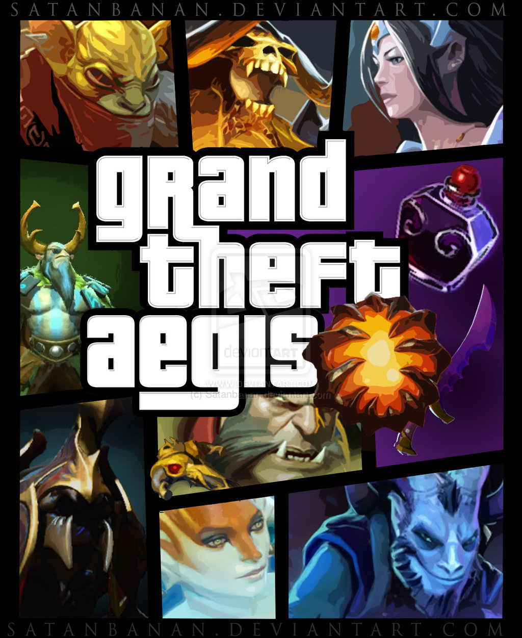 grand theft aegis defense of the ancients dota know your meme