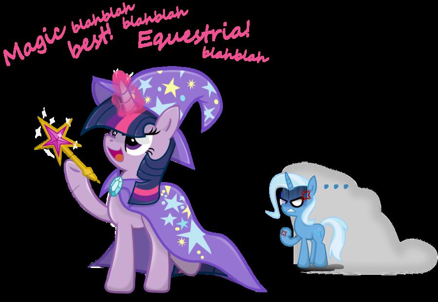 Twilight Sparkle Impersonating Trixie | My Little Pony ...