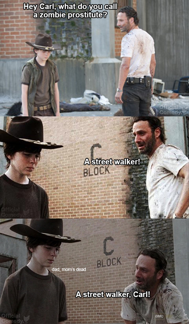 fbd mom's dead carl! know your meme