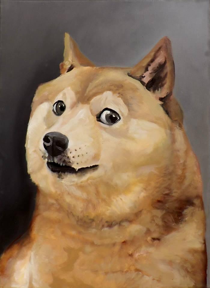 Doge meme painting - photo#1