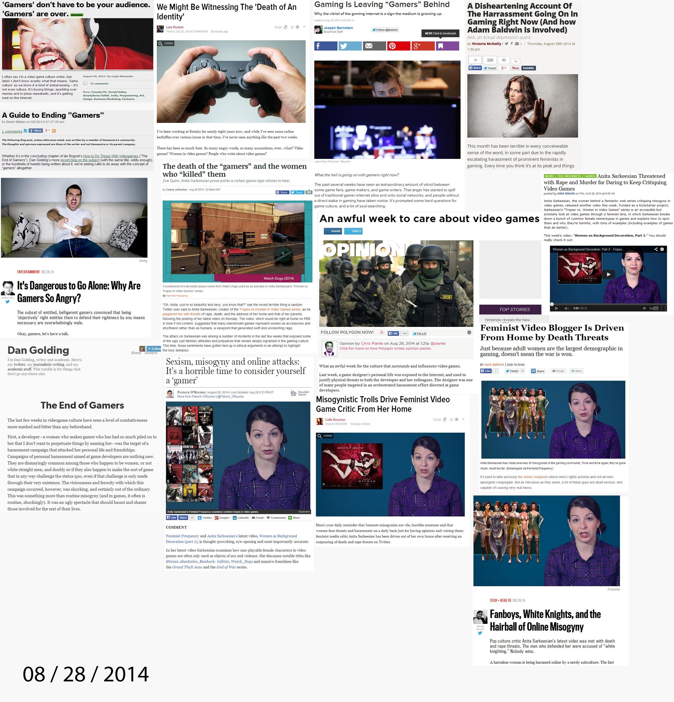 les articles sortis le 28-29 Aout