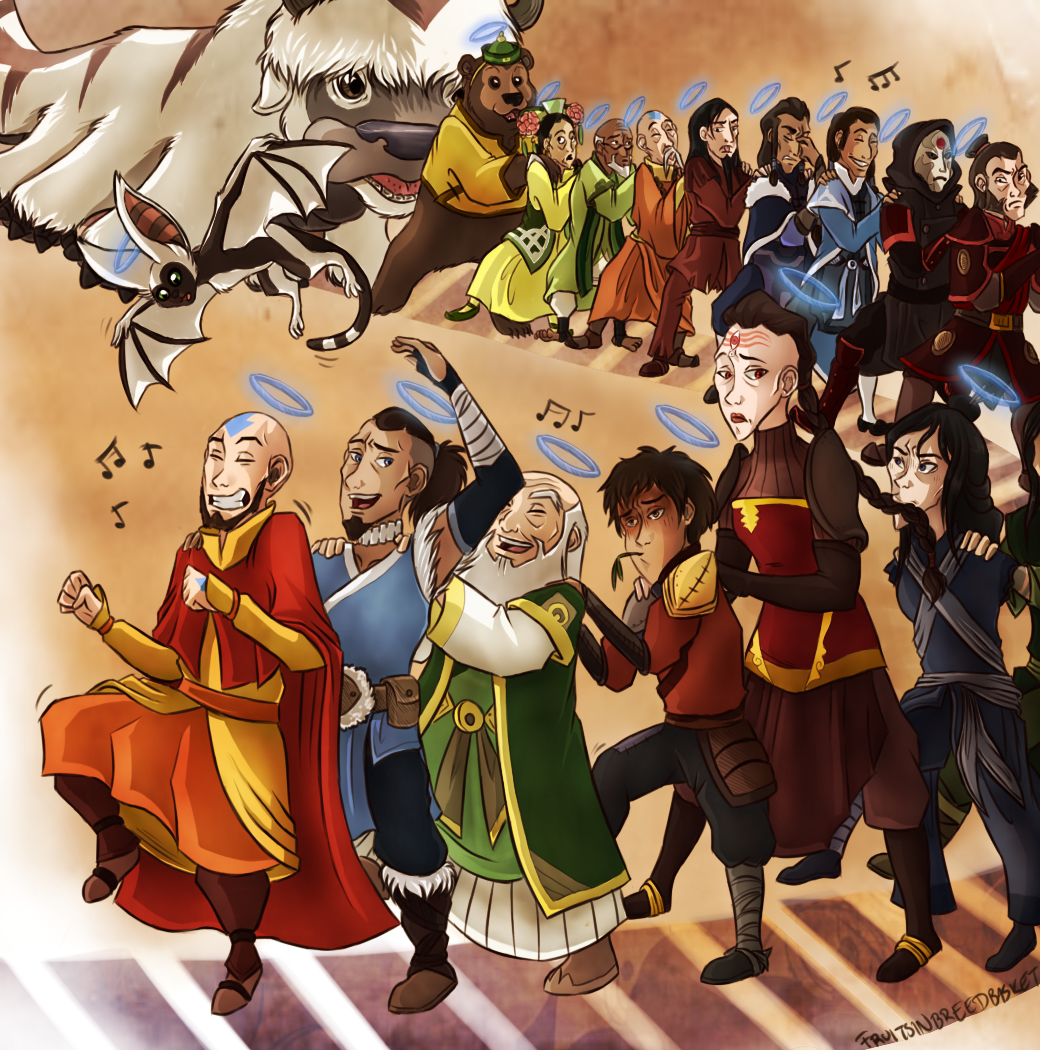 Meanwhile in the afterlife avatar the last airbender the aang sokka azula zuko iroh korra cartoon voltagebd Image collections