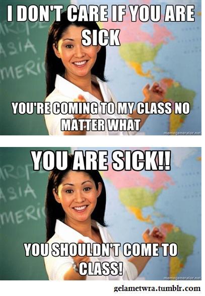 unhelpful school teach...