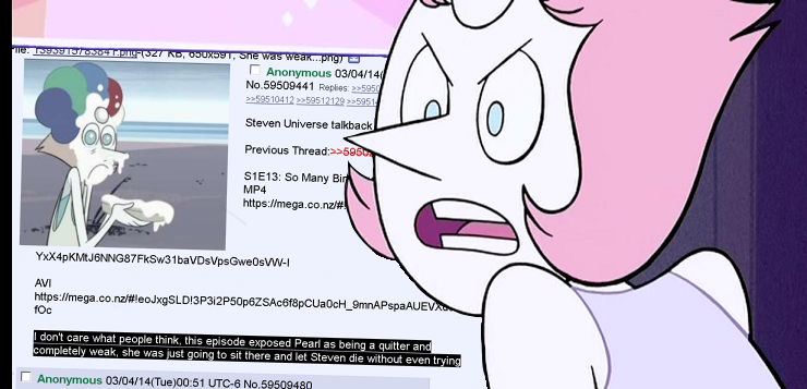 544 pearl discovers 4chan steven universe know your meme