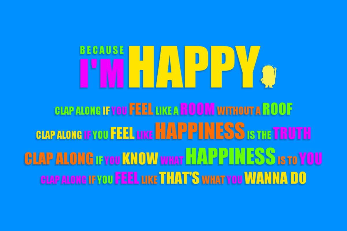 """""""Because I'm Happy"""" Wallpaper by Xagnel95 
