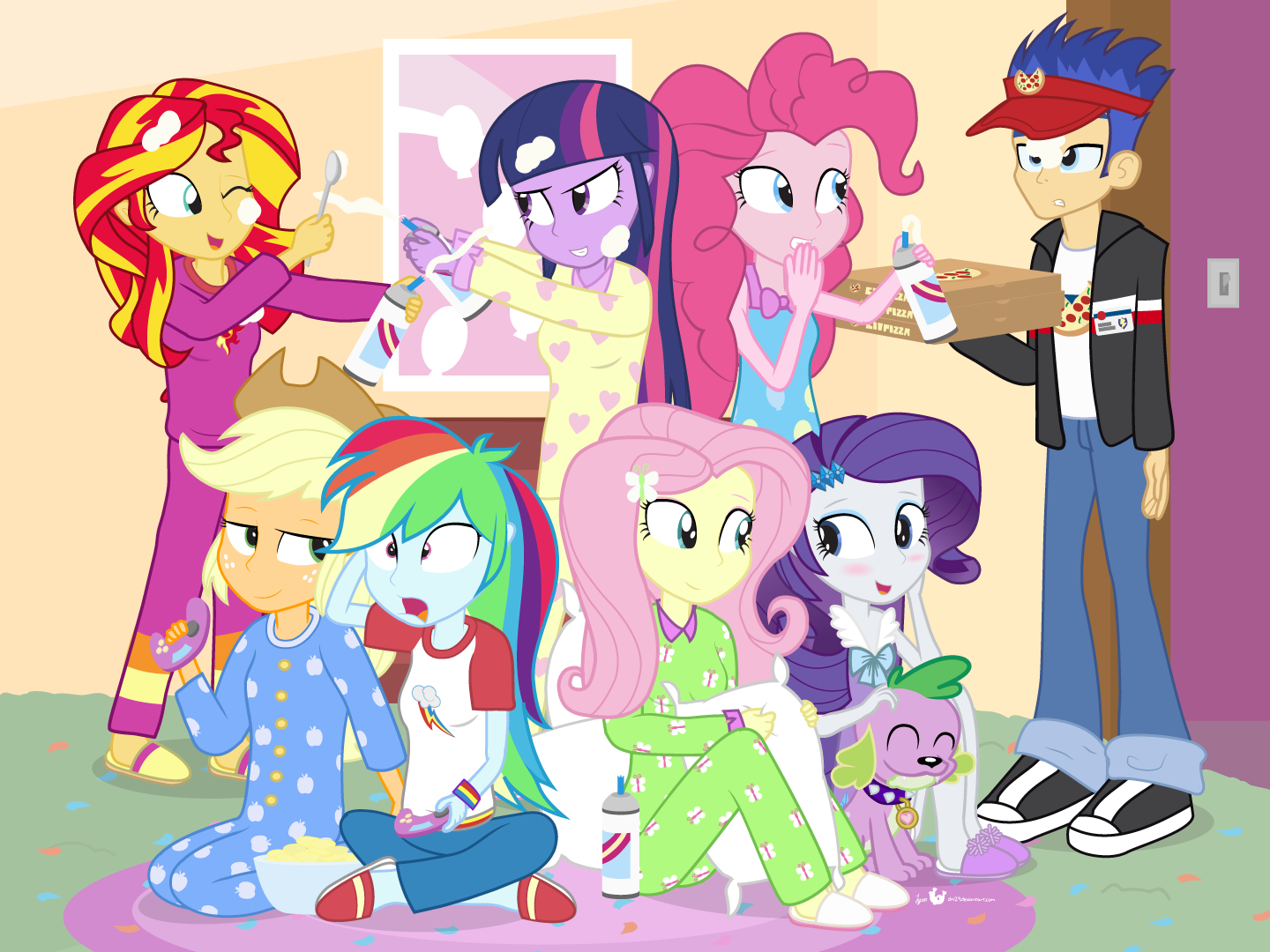 The Best Ies Slumber Party Ever By Dm29 My Little Pony