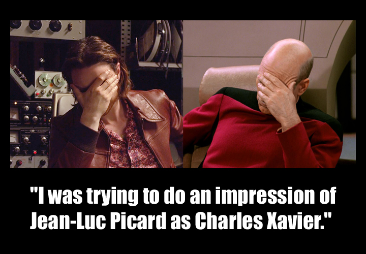 """star trek - Which episode is the """"double facepalm"""" image macro ..."""