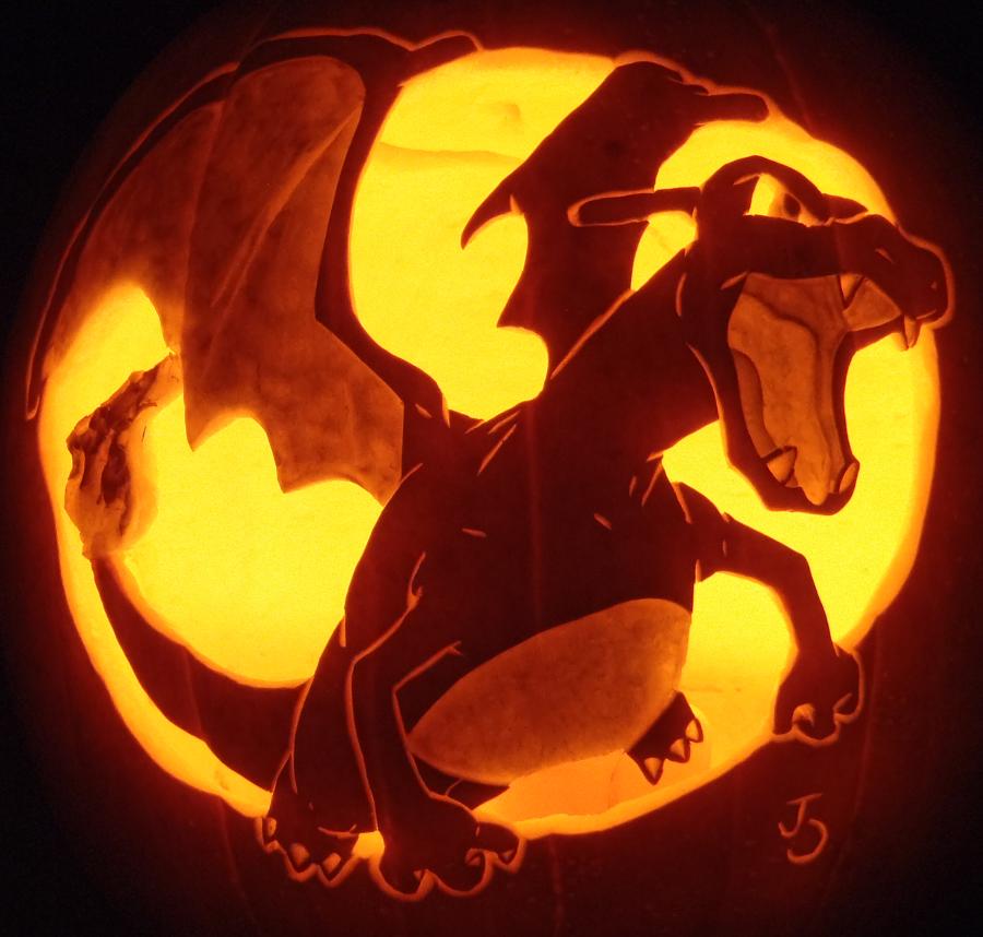 Charizard pumpkin carving art know your meme