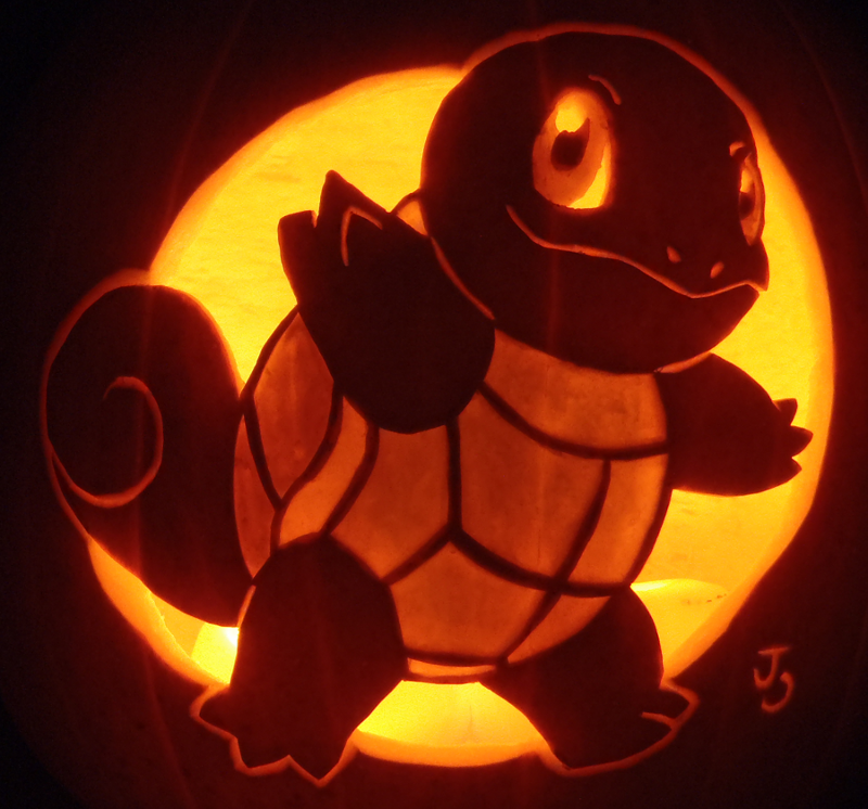 Squirtle pumpkin pumpkin carving art know your meme for Pokemon jack o lantern template