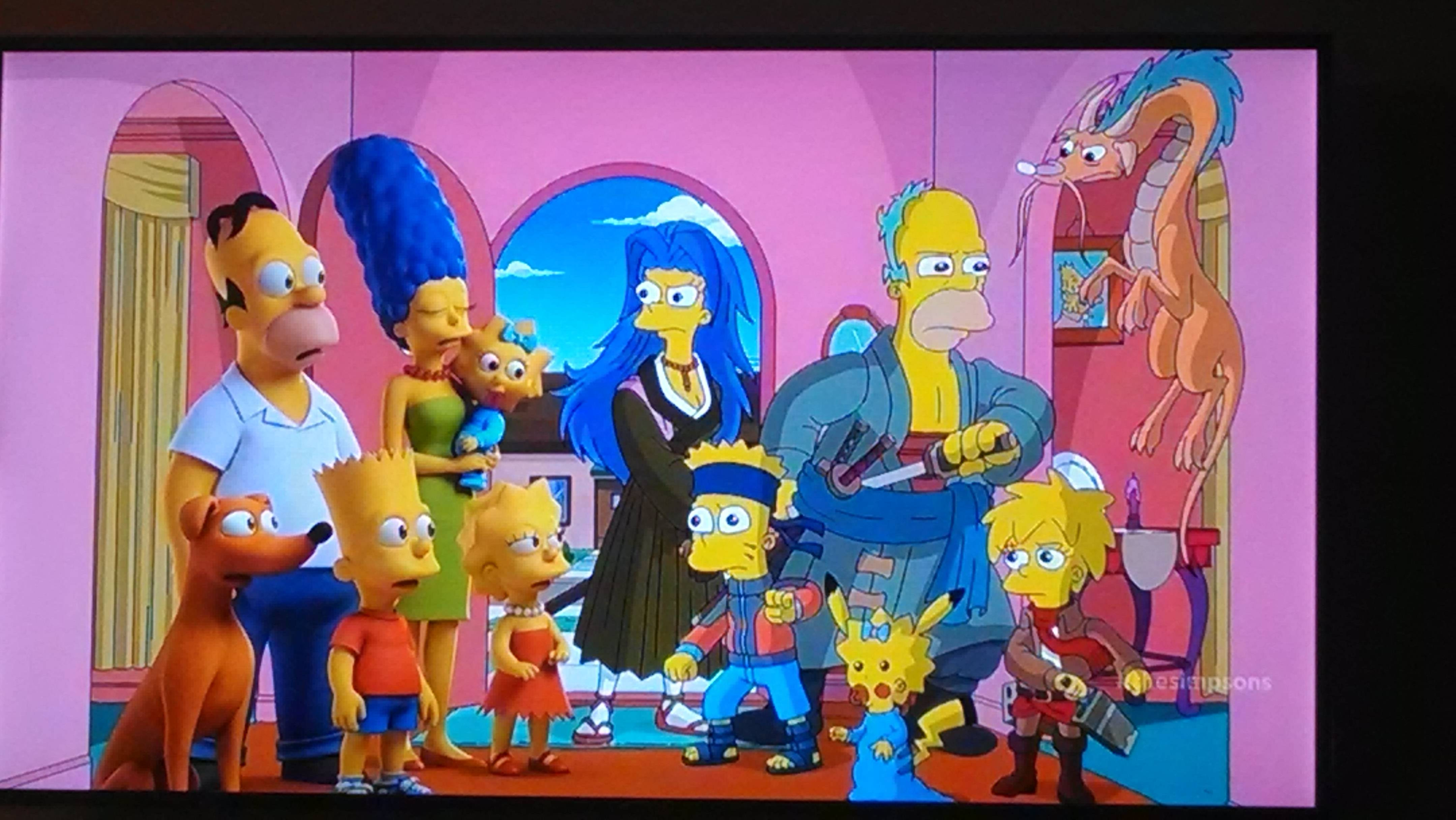 Charming Simpsons Treehouse Of Horror Xxv Part - 3: Treehouse Of Horror XXV - The Simpsons As Anime Characters