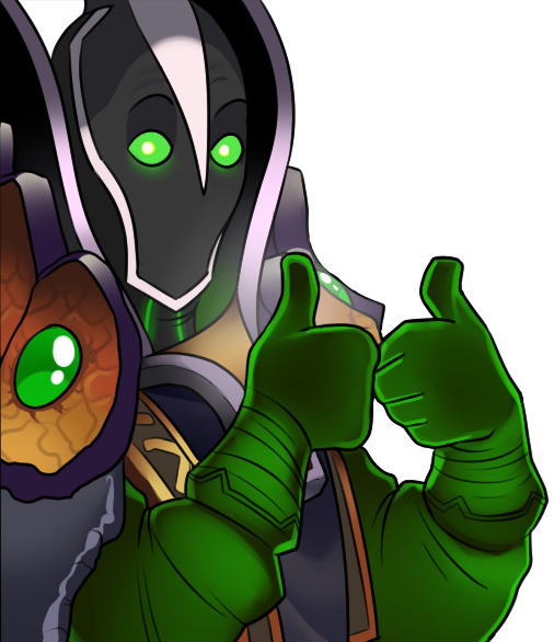 Rubick MOBA Thumbs up